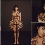 goldenes-3D-Druck-Kleid