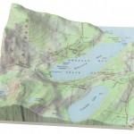 Landkarte Relief-3D-Druck: Natur trifft Kultur